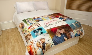 Up to 94% Off Custom Faux-Mink Photo Blankets from Printerpix