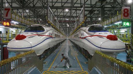 Trenes de alta velocidad de China (CRH).