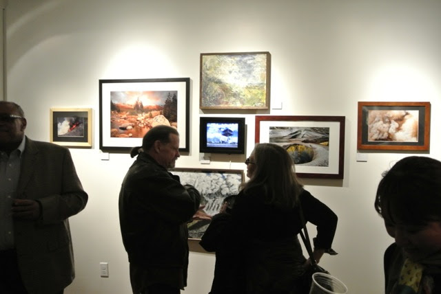 Artists viewing work