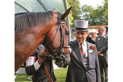 Prince Khalid Abdullah with Frankel after winning the St. James's Palace Stakes at Royal Ascot