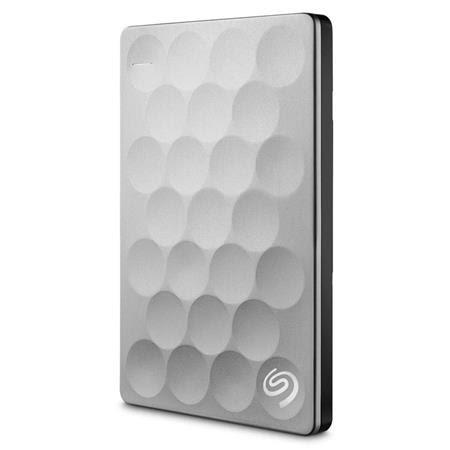 1TB Ultra Slim Backup Plus Portable External Hard Drive, USB 3.0 Interface, Platinum