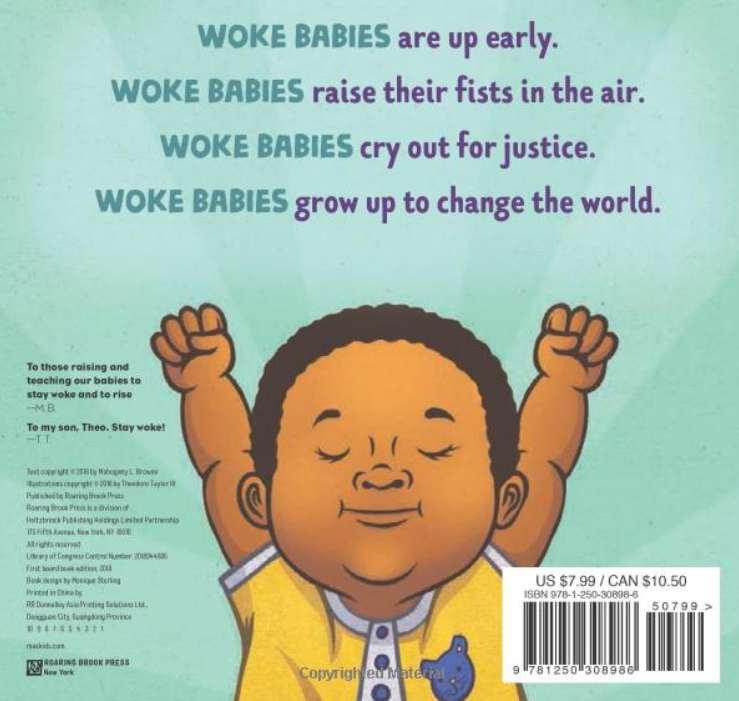 Back cover of Woke Baby