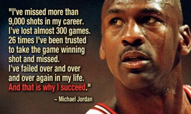 Michael Jordan on how failing has created his success.