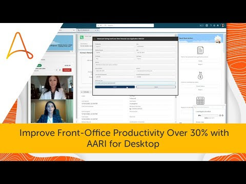 Front-office Automation with AARI Desktop   Digital Assistant Demo