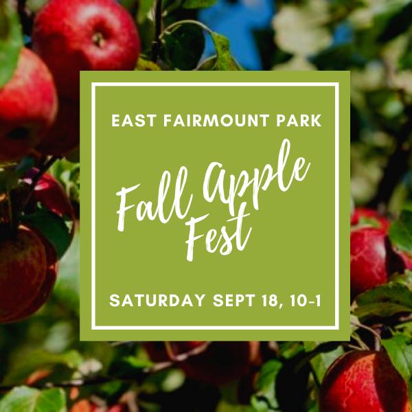 East Fairmount Park Fall Apple Fest Saturday September 18, 10-1