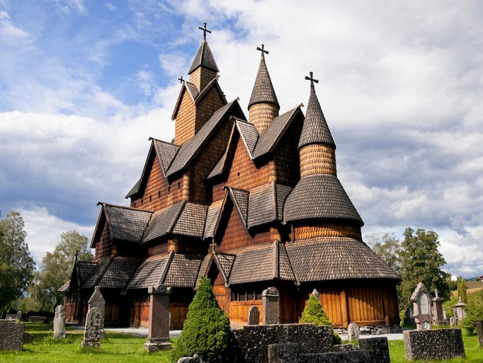 Of                                                           Norway's 28                                                           remaining                                                           stave                                                           churches,                                                           Heddal Stave                                                           Church is the                                                           largest and                                                           dates back to                                                           the early 13th                                                             century.