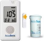 Accu Sure Gold Glucose Monitor with 10 Strips Glucometer
