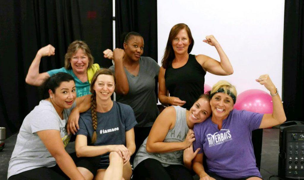 fitness class participants
