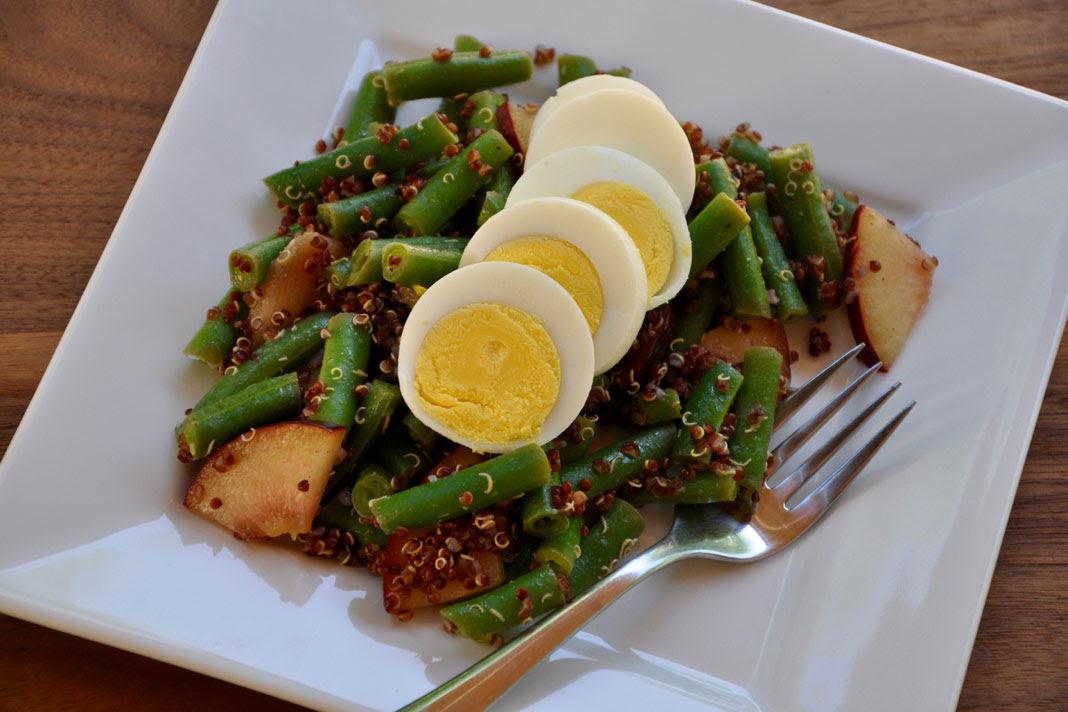 Green Bean, Egg and Quinoa Salad