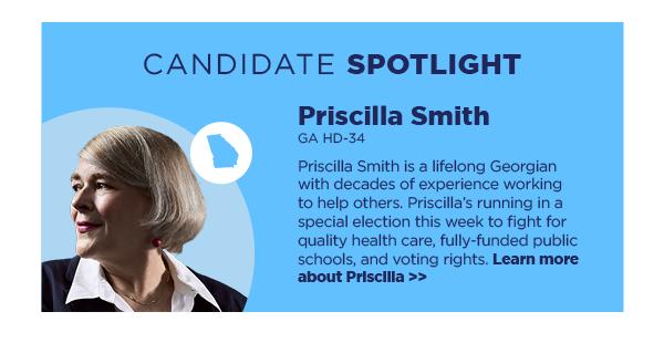 Candidate Spotlight: Priscilla Smith, GA HD-34
