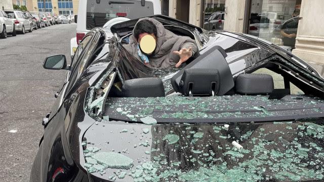 Homem cai de 9.º andar em cima de BMW e sai ileso