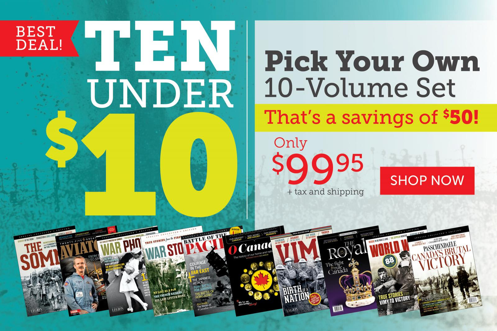 Get TEN special issues under $10!