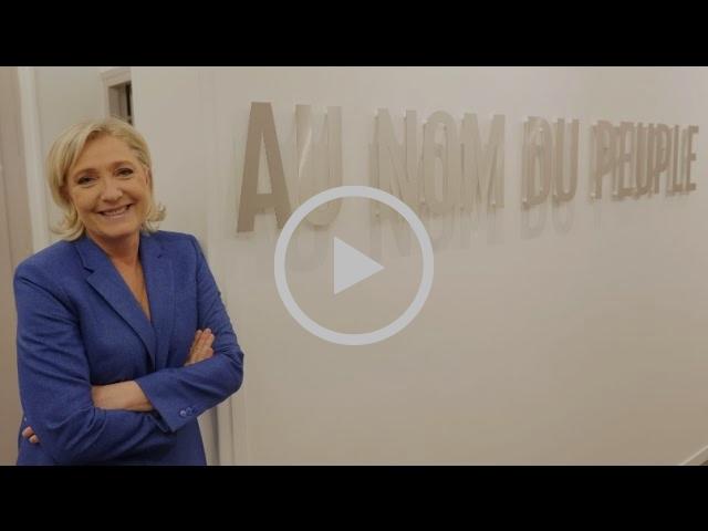 Marine Le Pen vous présente son logo de campagne