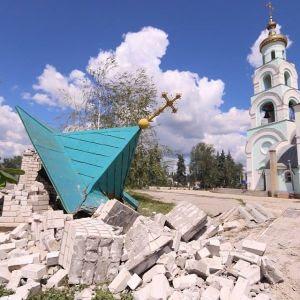 το παρεκκλήσι του Αγ.Σεραφείμ του Σάρωφ μετά την επίθεση
