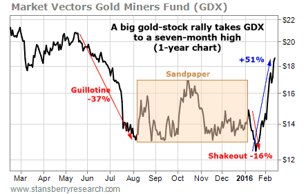 Gold Miners Shakeout