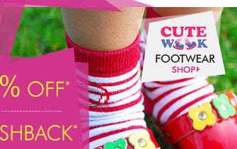 Flat 25% OFF* 25% Cashback* on Cutewalk Footwear