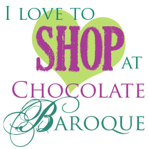 Love Chocolate Baroque stamps