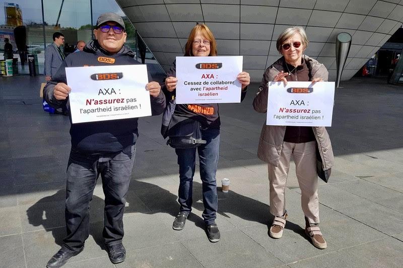 Instan al conglomerado de seguros AXA a poner fin a su apoyo a los crímenes de guerra israelíes