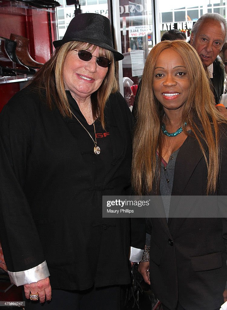 Penny Marshall and Charmaine Blake arrive at Charmaine Blake Ultra Gold Oscar Gifting Suite on February 28, 2014 in Los Angeles, California.