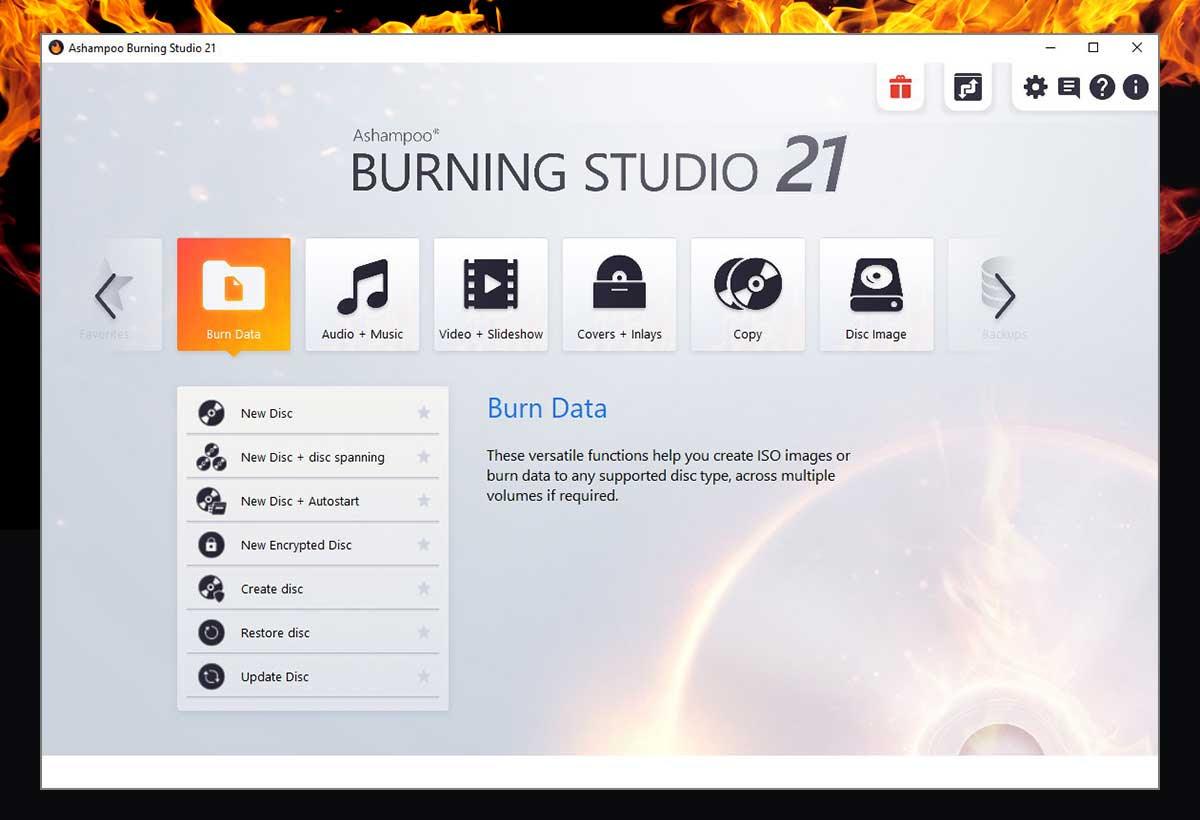 Ashampoo  Burning Studio 21 Screenshot