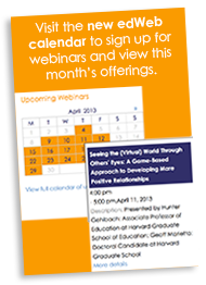 Visit the new edWeb webinar calendar