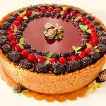 Шоколадный чизкейк с малиновым мармеладом