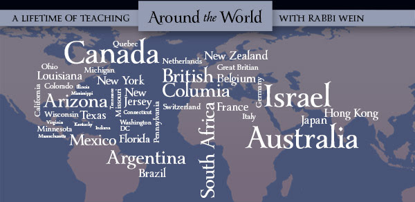 Around the World. A Lifetime of teaching. with rabbi wein