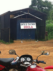 Ebola treatment center in West Africa, taken July 5, 2014