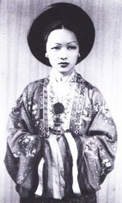 Cô dâu Trần Lệ Xuân. Ảnh năm 1943 ở Hà Nội.