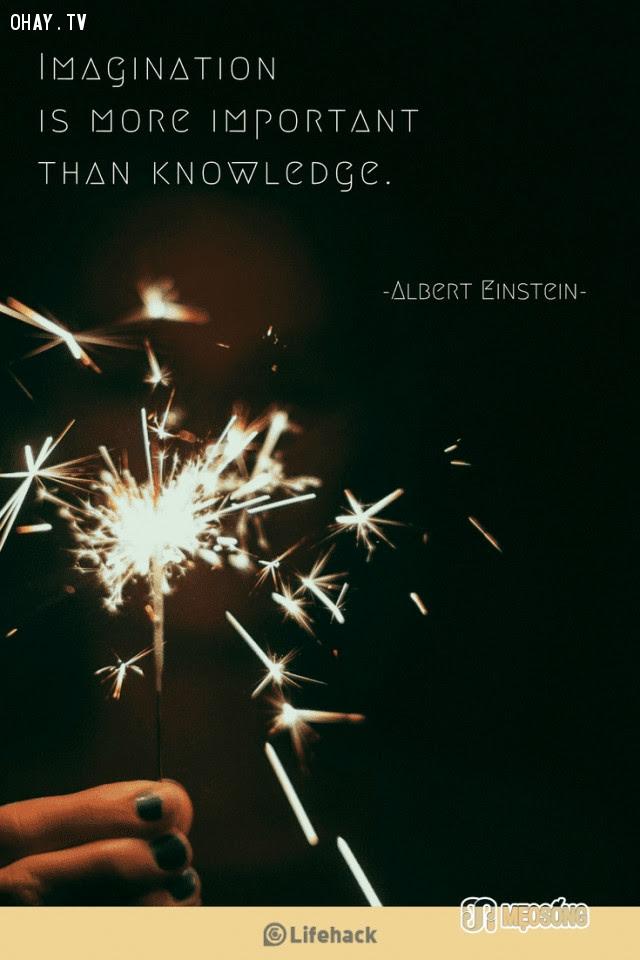 15. Trí tưởng tượng quan trọng hơn kiến thức nhiều,albert einstein,câu nói hay,triết lý sống,câu nói ý nghĩa