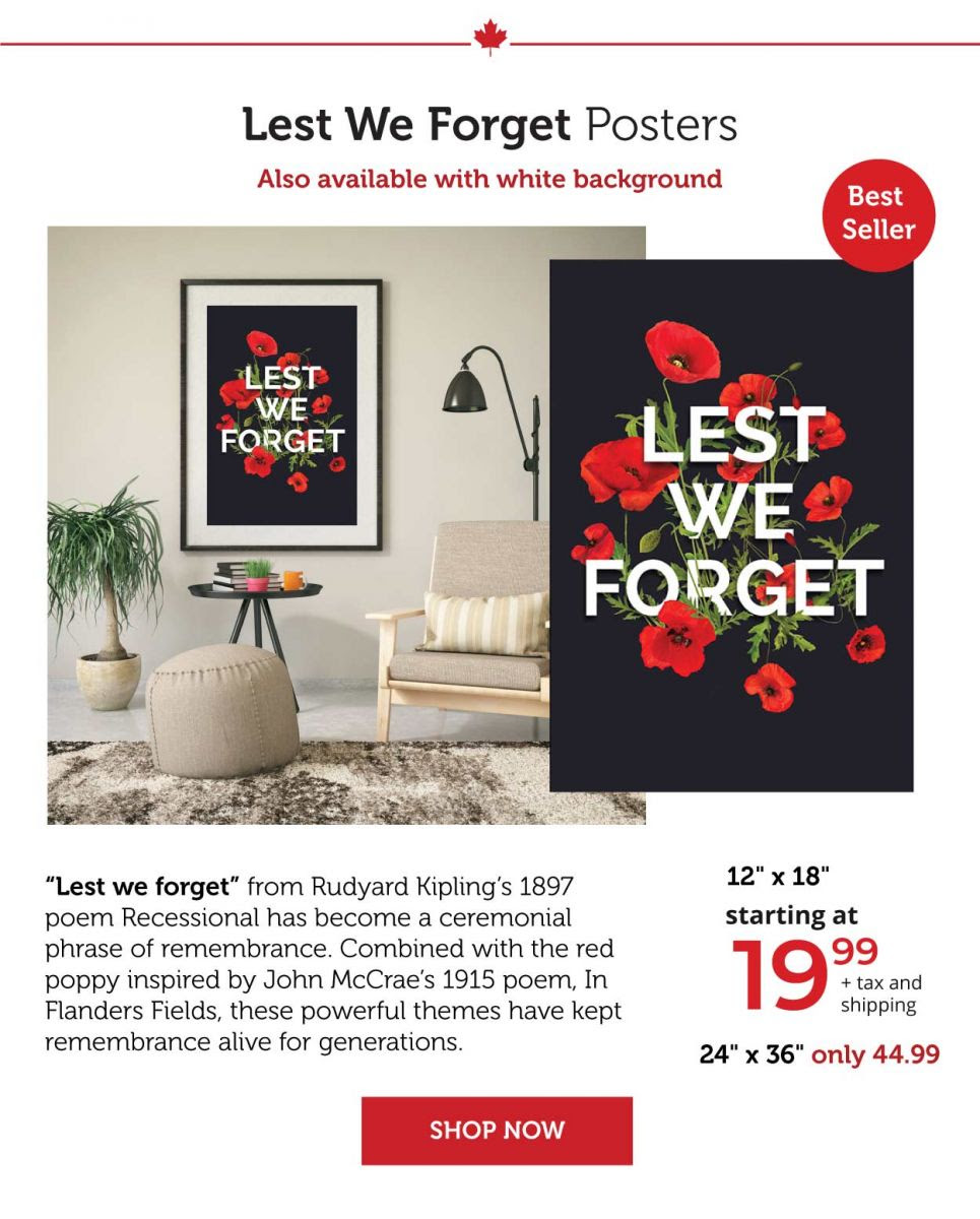 Lest We Forget Posters
