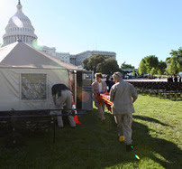NDMS set up medical tents at the National Peace Officer's Memorial Service near the U.S. Capitol.