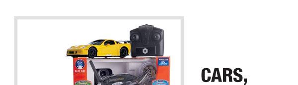 Cars, trucks, and trains starting at $9.9