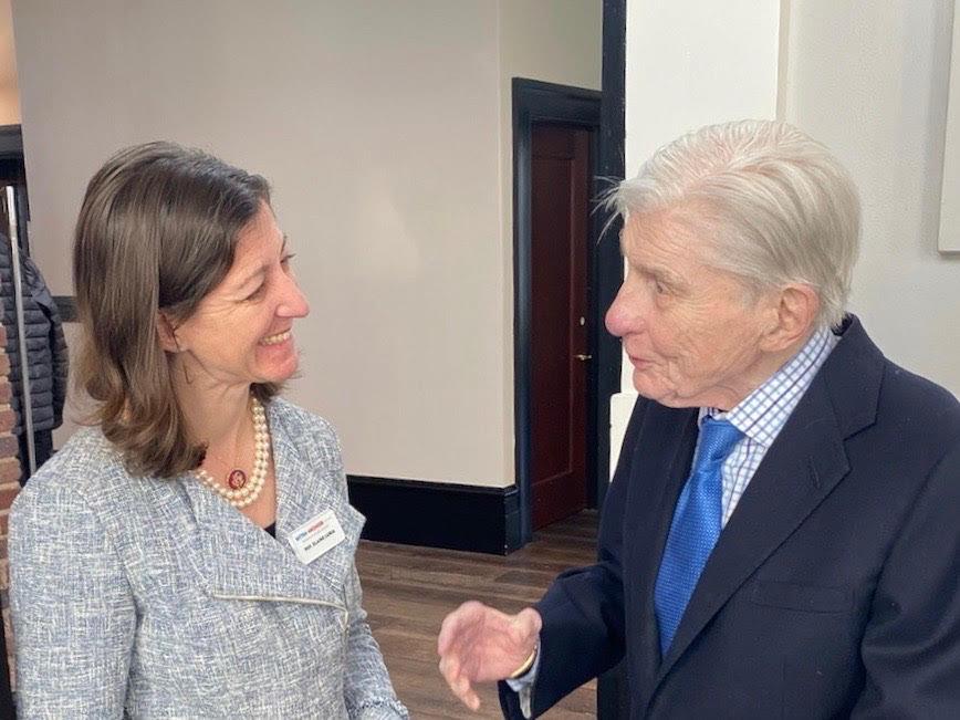 Congresswoman Elaine Luria with Sen. John Warner