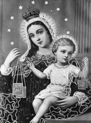 Znalezione obrazy dla zapytania matka boża szkaplerzna LITANIA