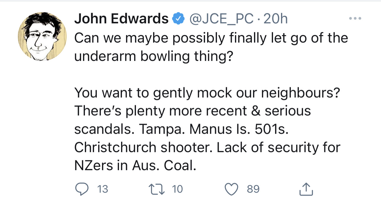 John Edwards tweet