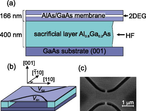 Lateral-electric-field-induced spin polarization in a suspended GaAs quantum point contact