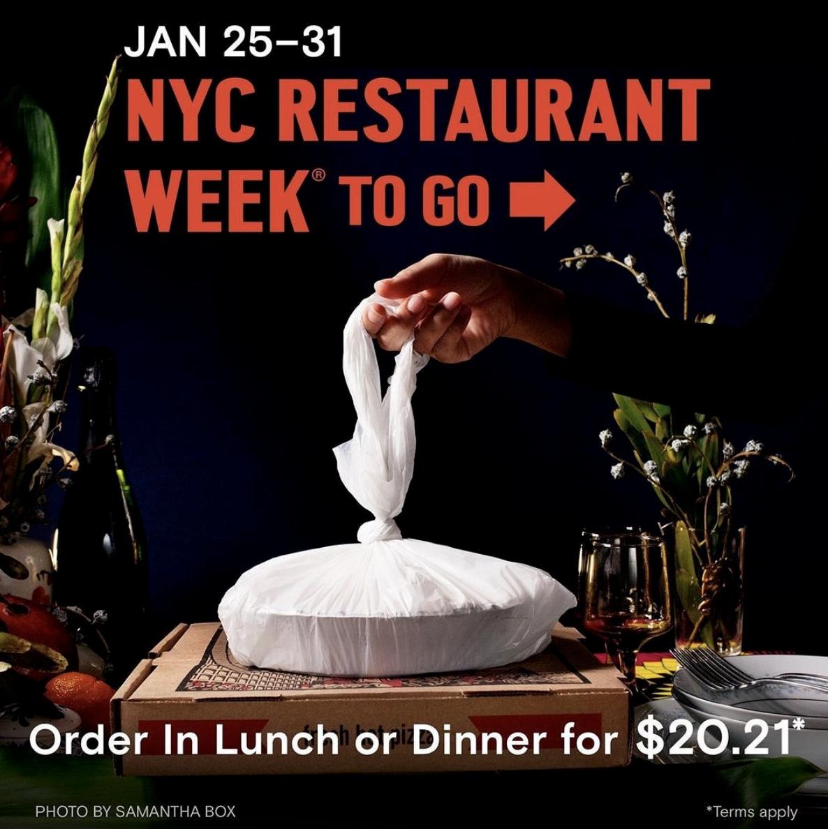 NYC Restaurant Week To Go: Beginning 1/25