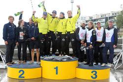 Swedish J/70 Sailing League- winners podium
