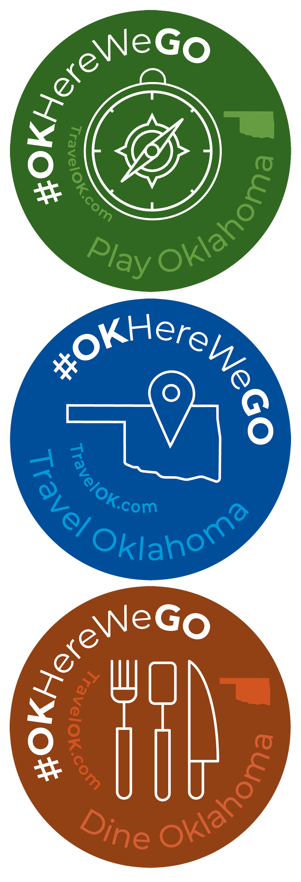#OKHereWeGO Stickers