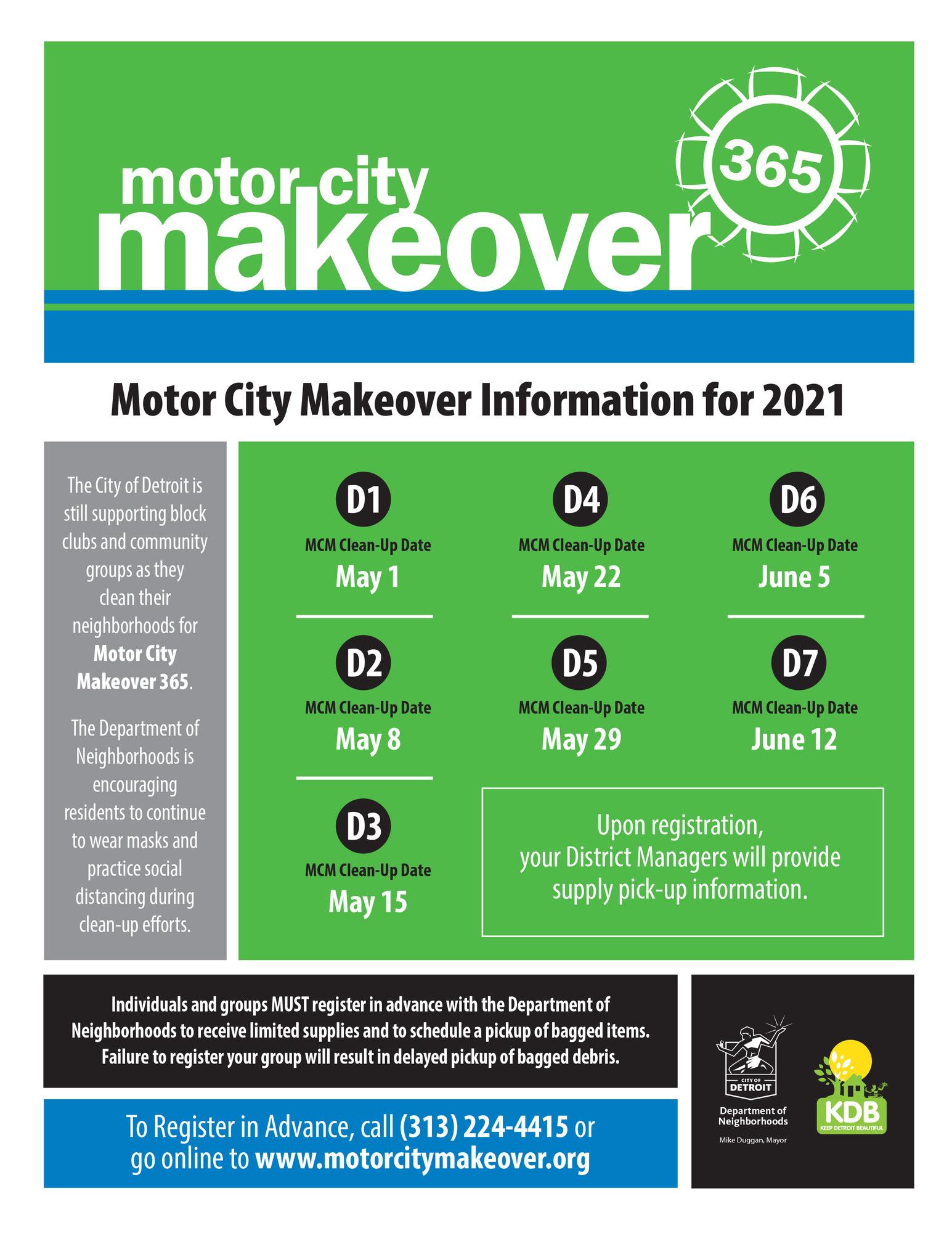 Motor City Makeover General Flyer 2021