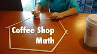 Picture of a child practicing coffee shop math. Link goes to PBS' page on coffee shop math.