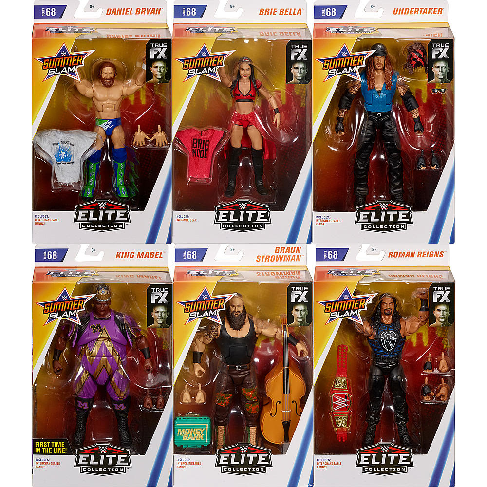 Image of WWE Wrestling Elite Series 68 - Set of 6 - AUGUST 2019