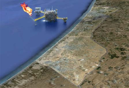 Gaza gas illustration