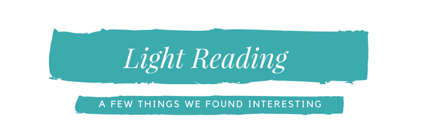 """A graphic with the text """"Light Reading. A few things we found interesting."""""""