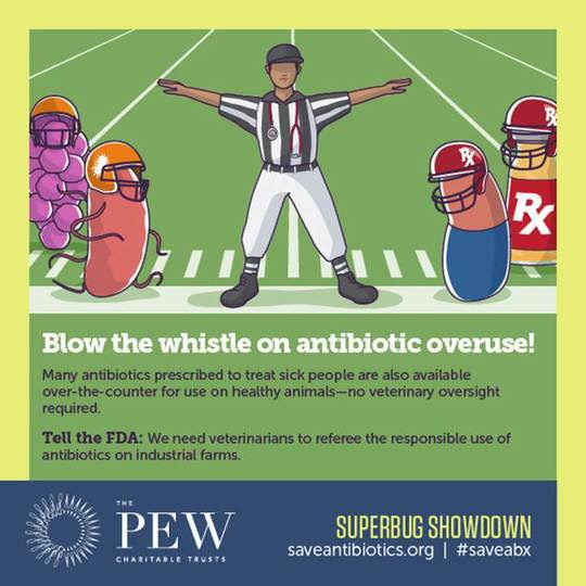Infographic: Blow the whistle on antibiotic overuse!