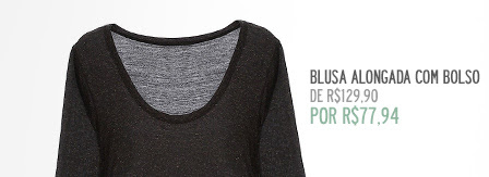 Blusa Alongada com Bolso
