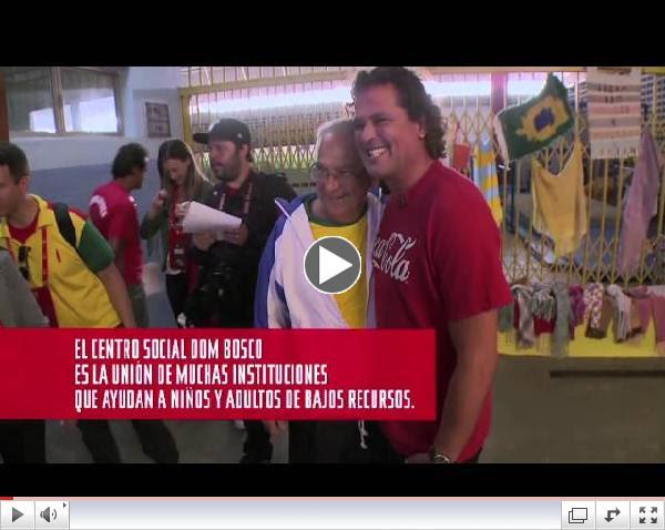Coca-Cola y Carlos Vives visitaron el centro social Don Bosco.