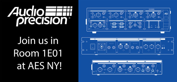Audio Precision at AES NY Room 1E01!