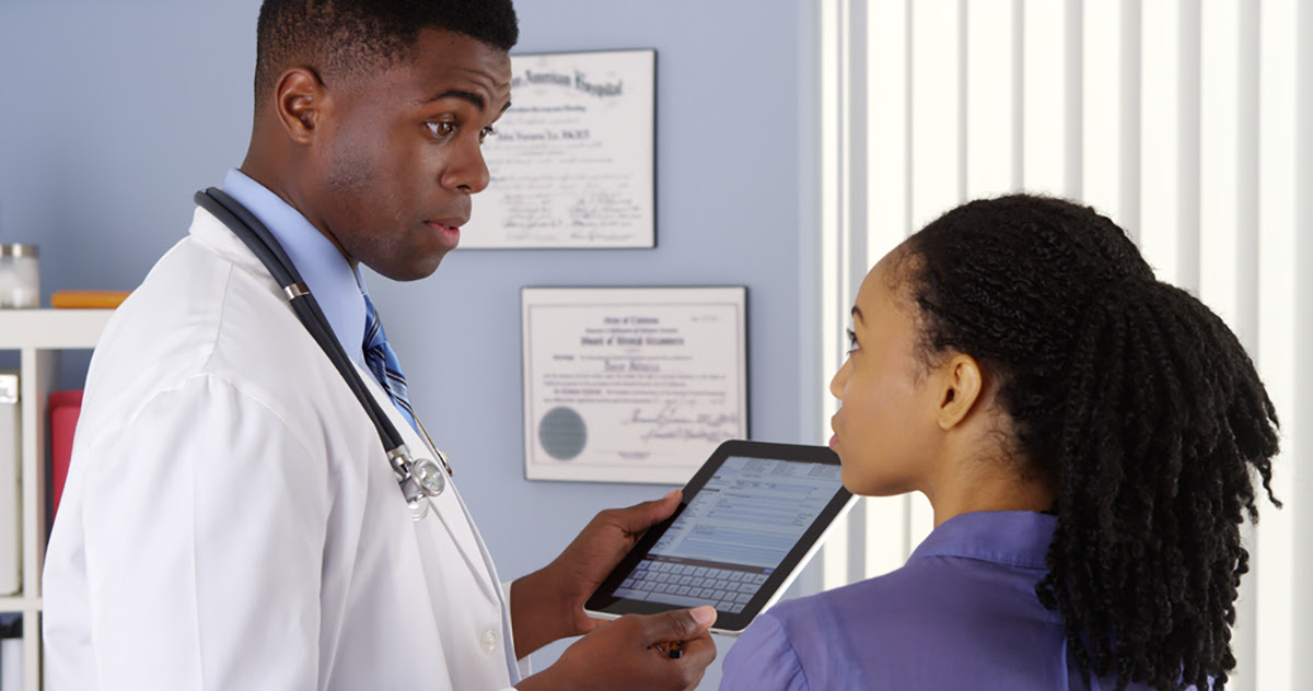 HHS Sickle Cell African American Patient and Doctor